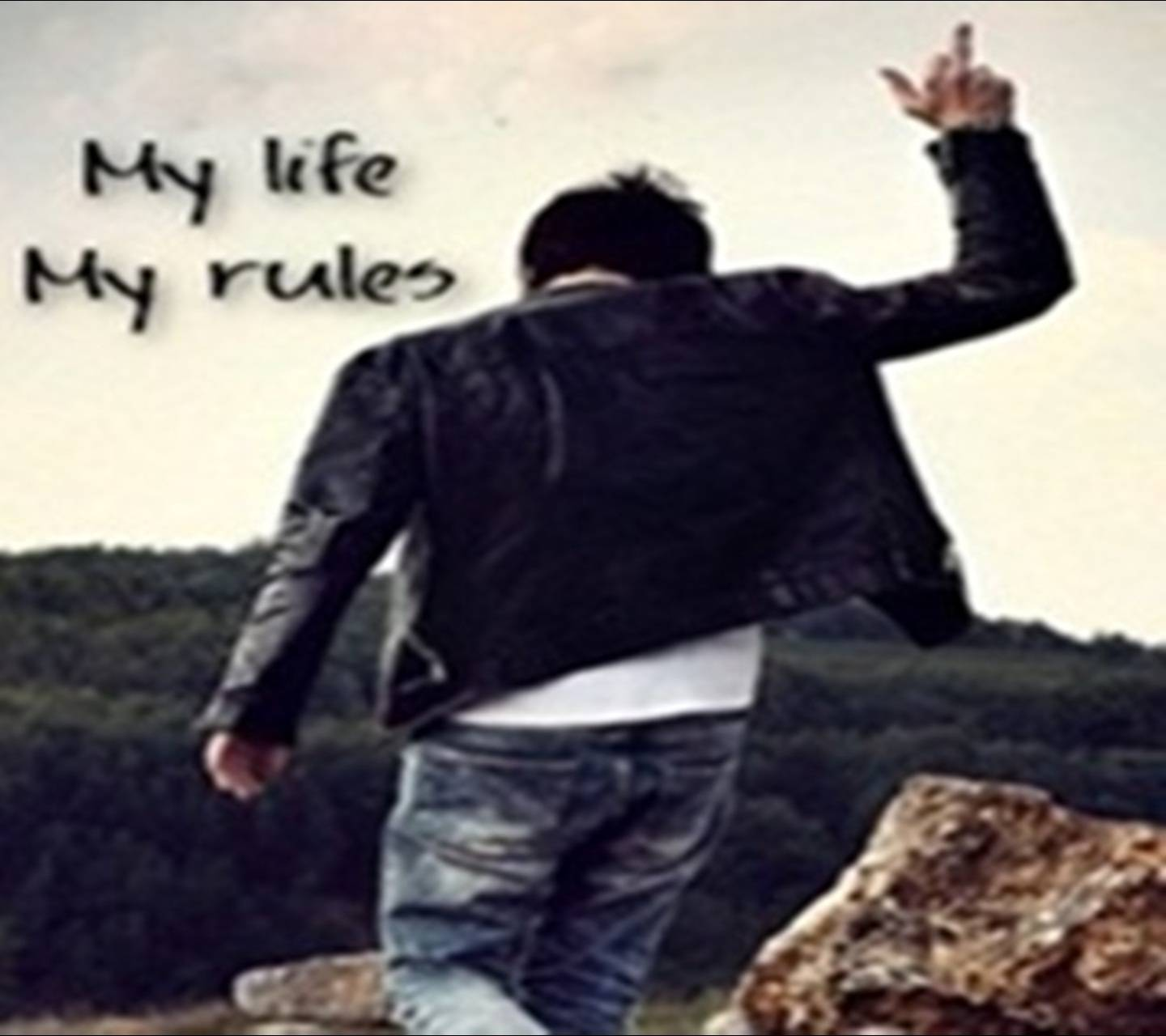 My Life Rules Wallpaper By Sonu786