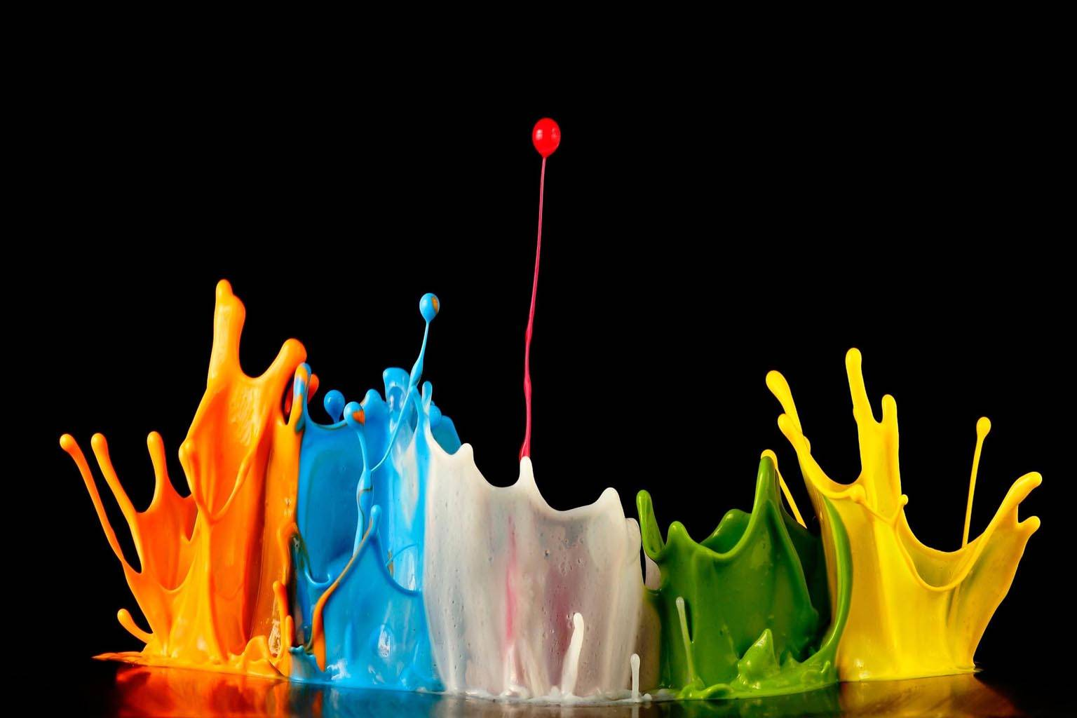 Splash painting