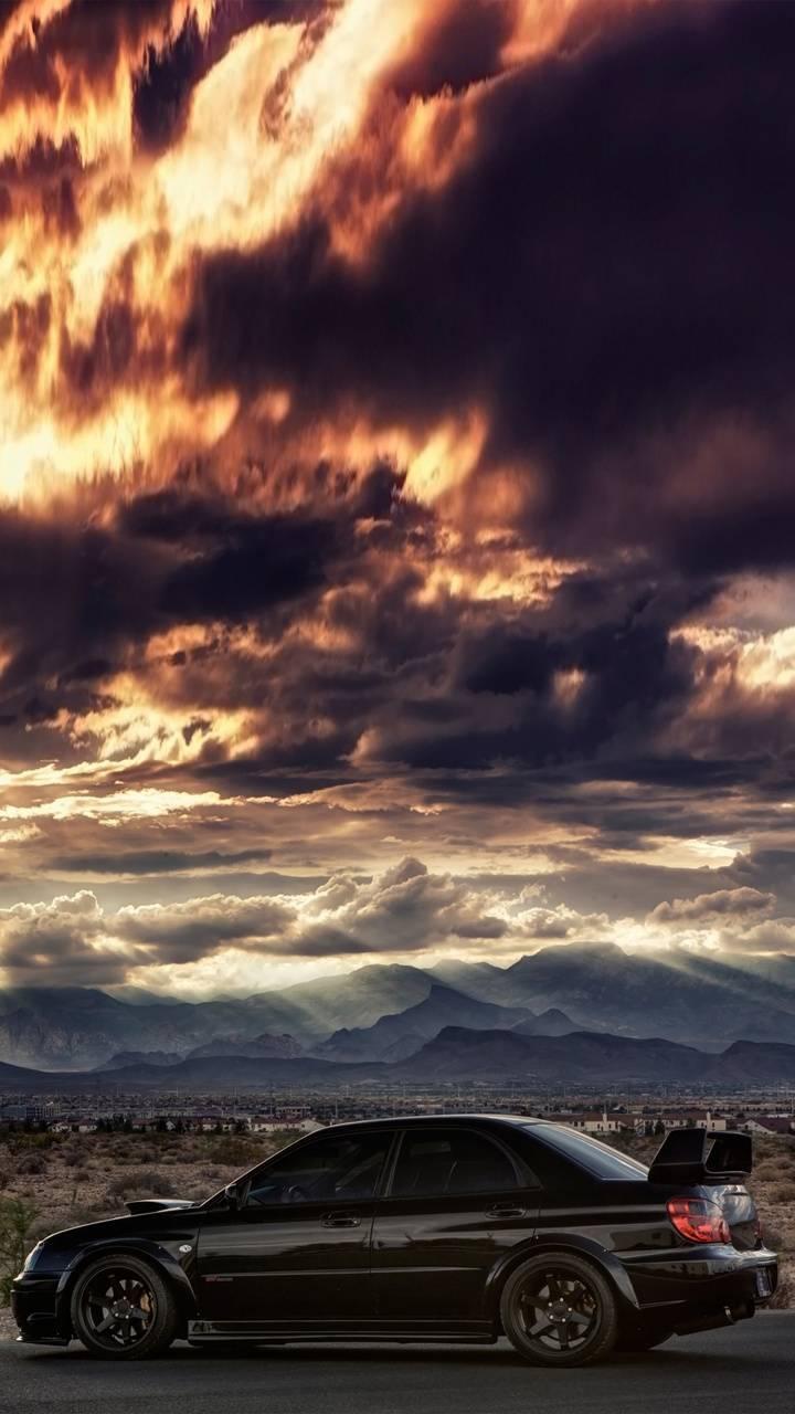 Impreza sunset