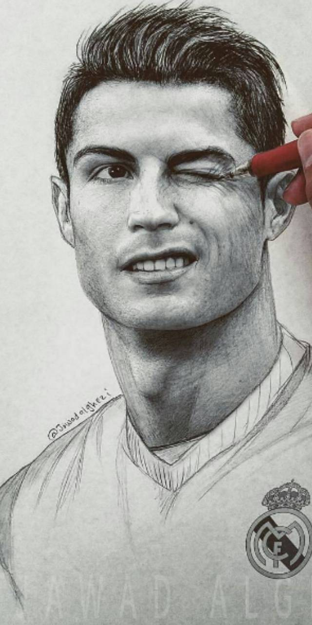 Cr7 drawing wallpaper by jefersonpp 67 free on zedge