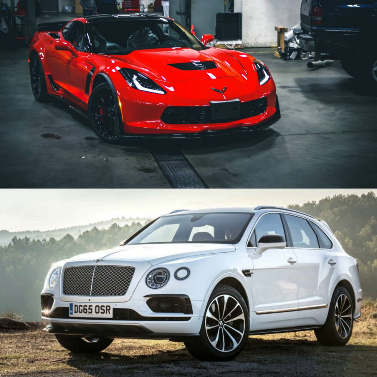 Bently and corvette
