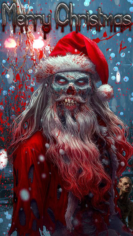 zombie christmas Wallpaper by Nascarfan388 - 60 - Free on ZEDGE™