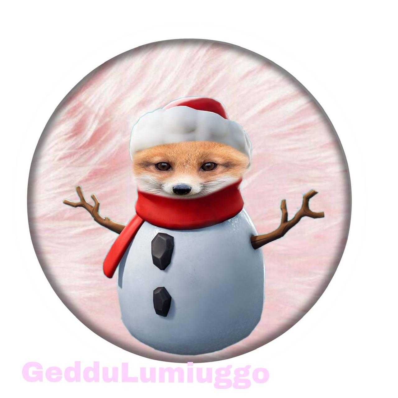 Fox snowman