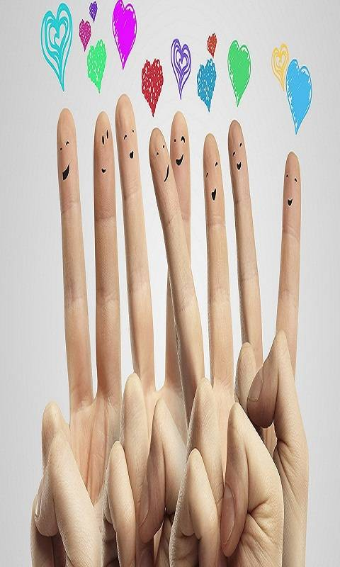 Fingers Love Hearts