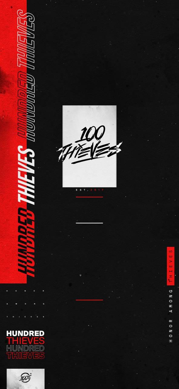 100 Thieves Logo Wallpaper