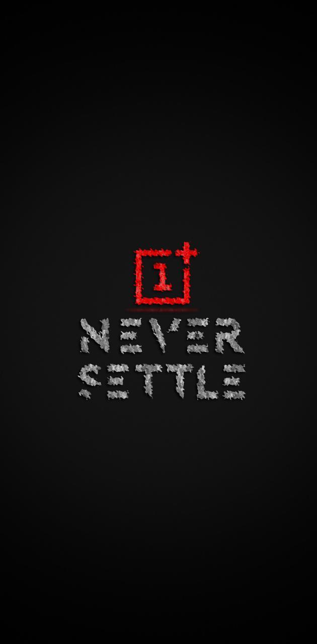 Never settle logo hd