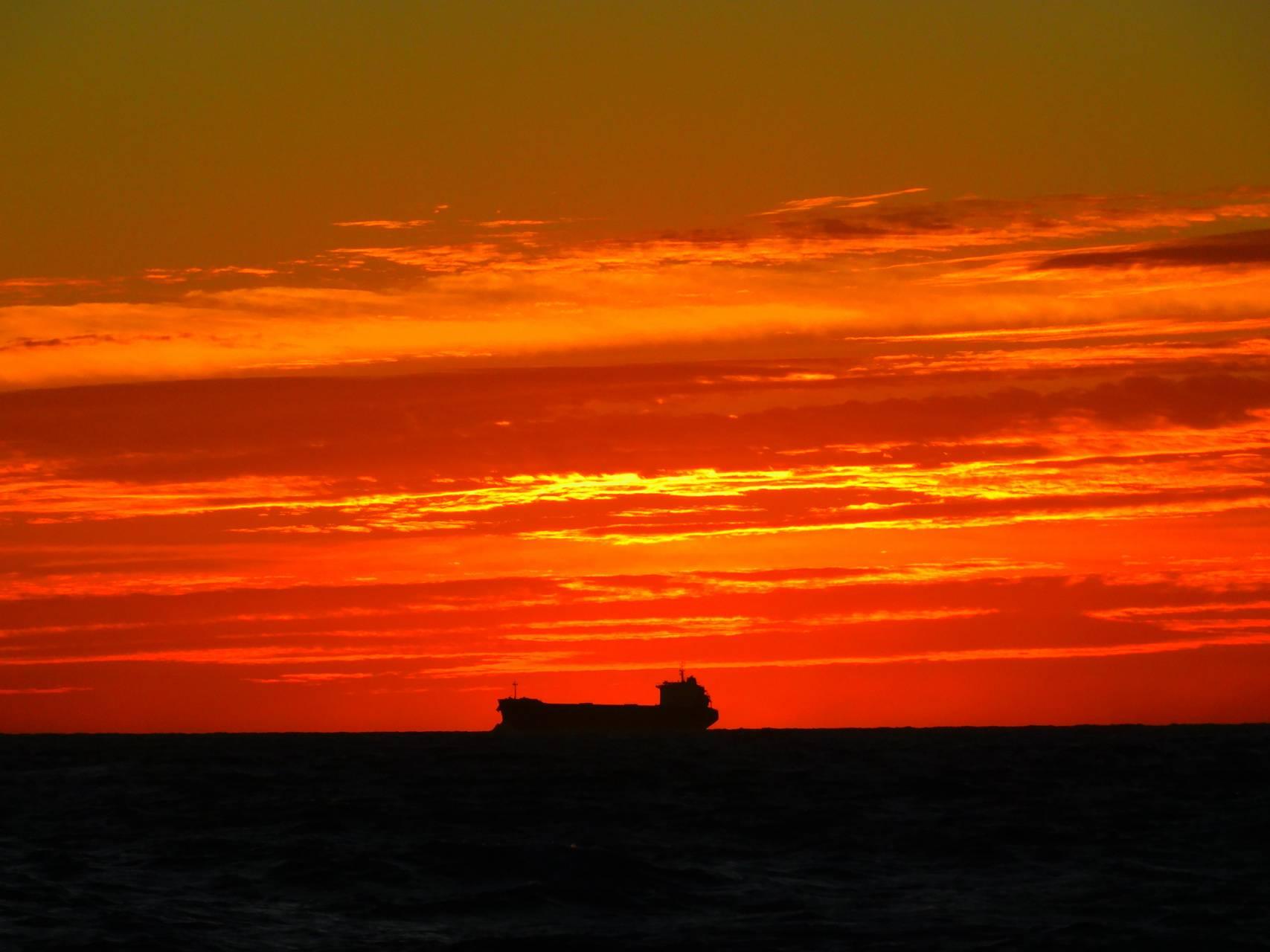 Gulf Ship Silhouette
