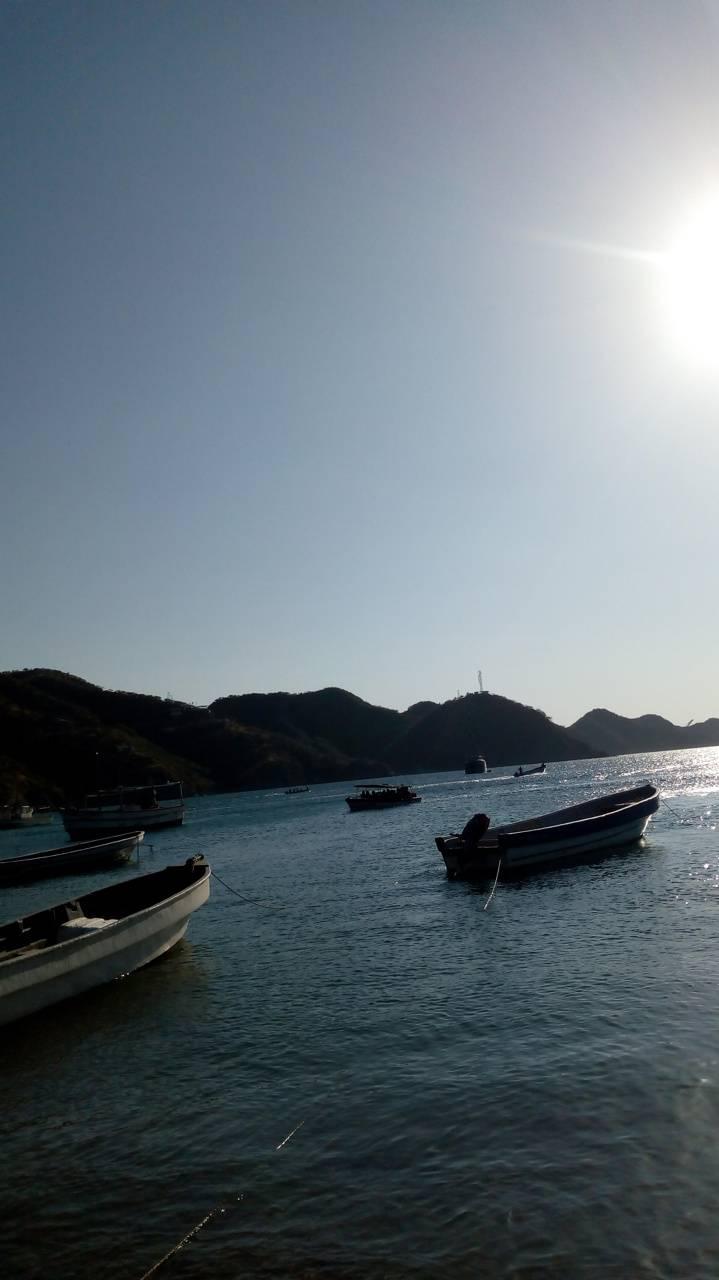 Sea Boats Sunset