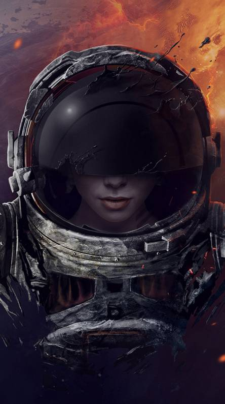 girl in a spacesuit
