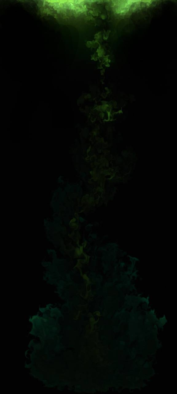 Green fluid art
