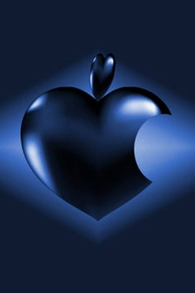 Dark Blue Apple Logo