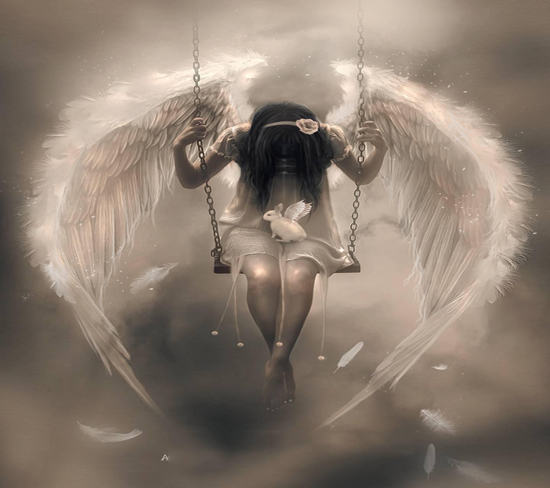 Все картинки ангелов девушек с надписями