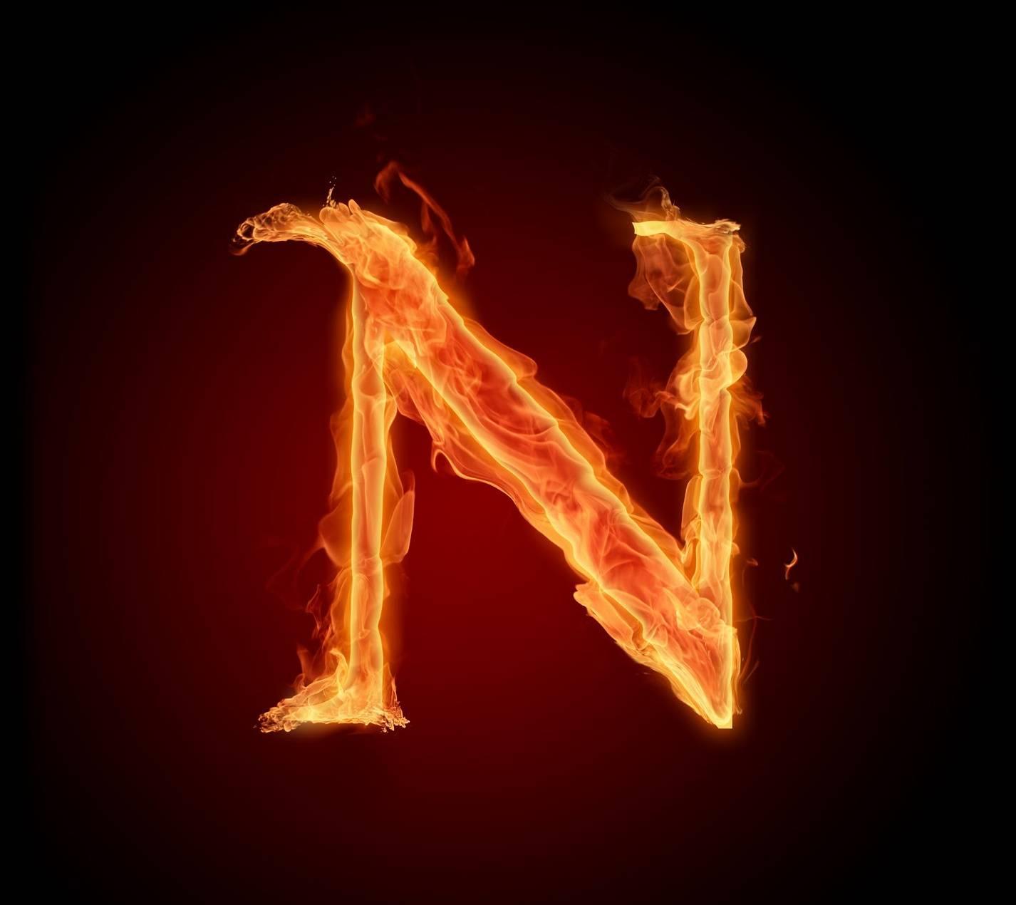 Letter n in fire hd wallpaper by mrlazy 73 free on zedge letter n in fire hd thecheapjerseys Images