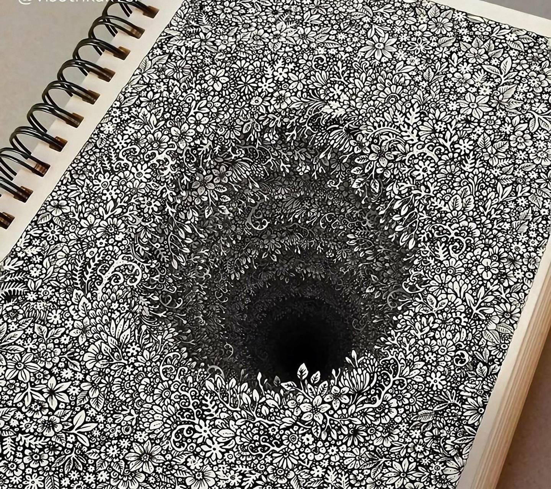 endless hole notebok