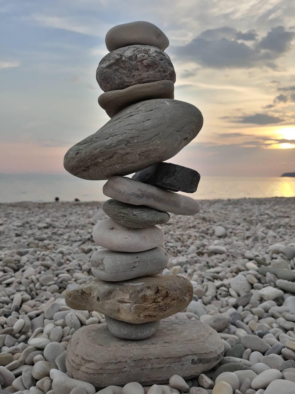 Rock in summer