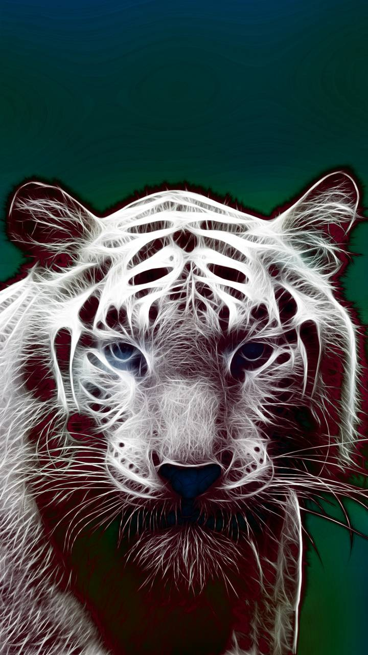 white tiger design