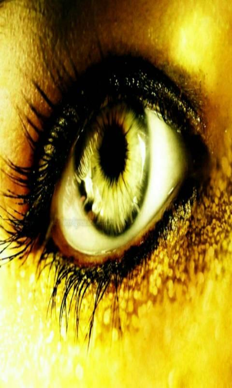 Glitter Golden Eye