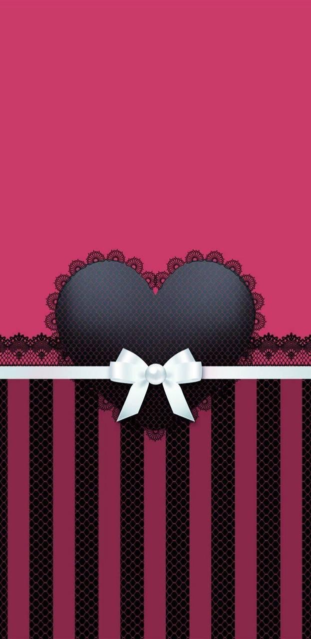 Dark pink lace