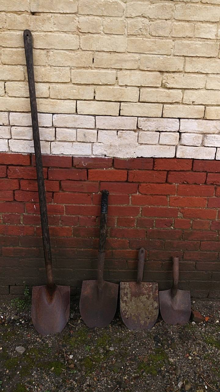 Wall of shovels