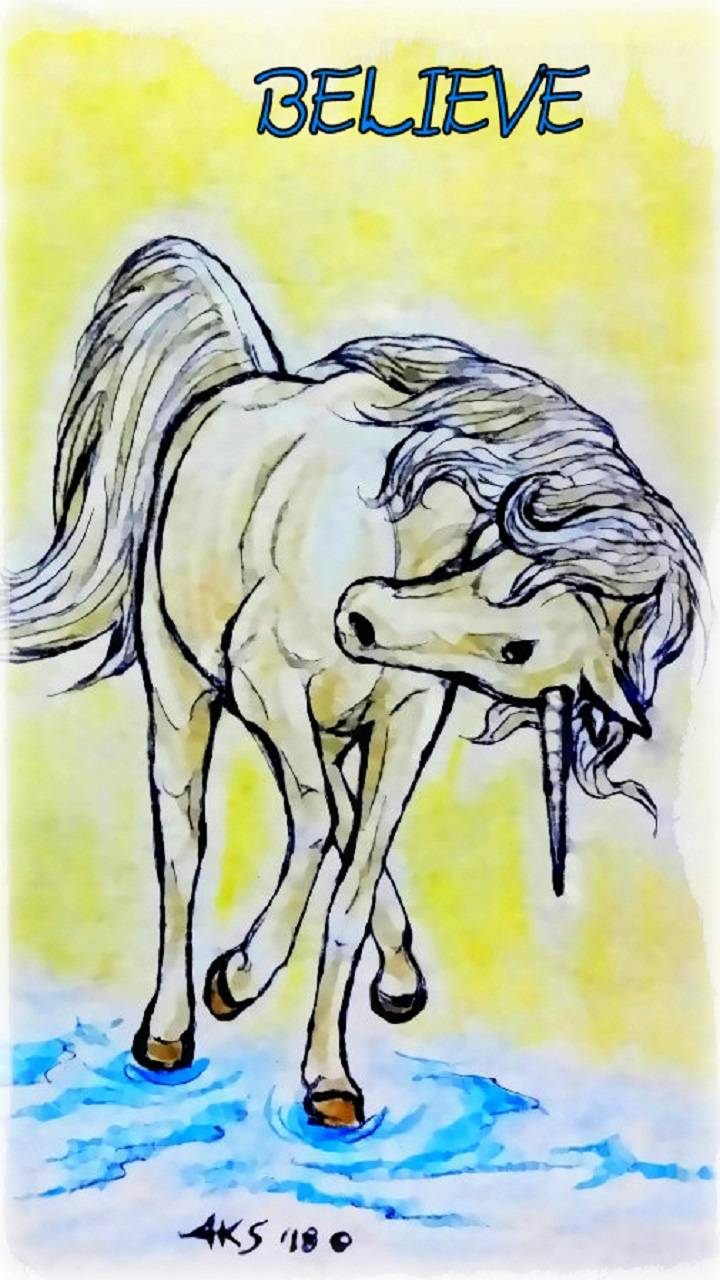 Believe Unicorn Art