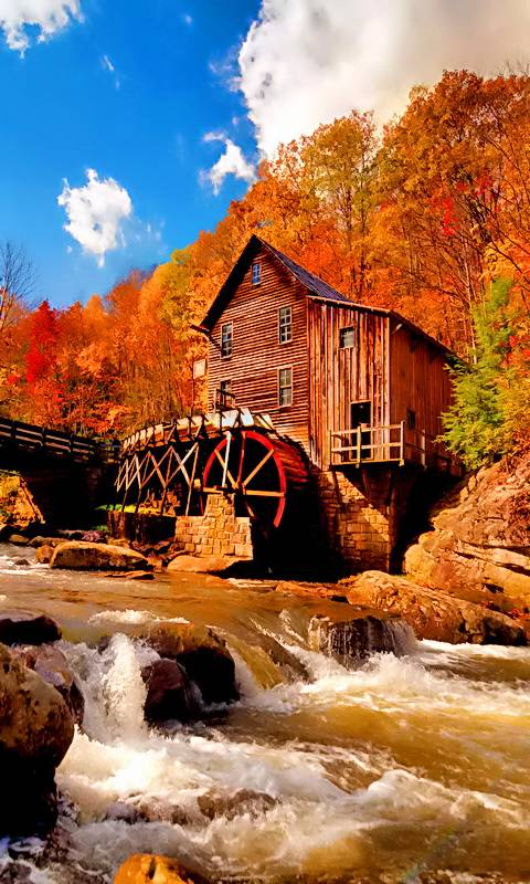 Autumn Water Mill