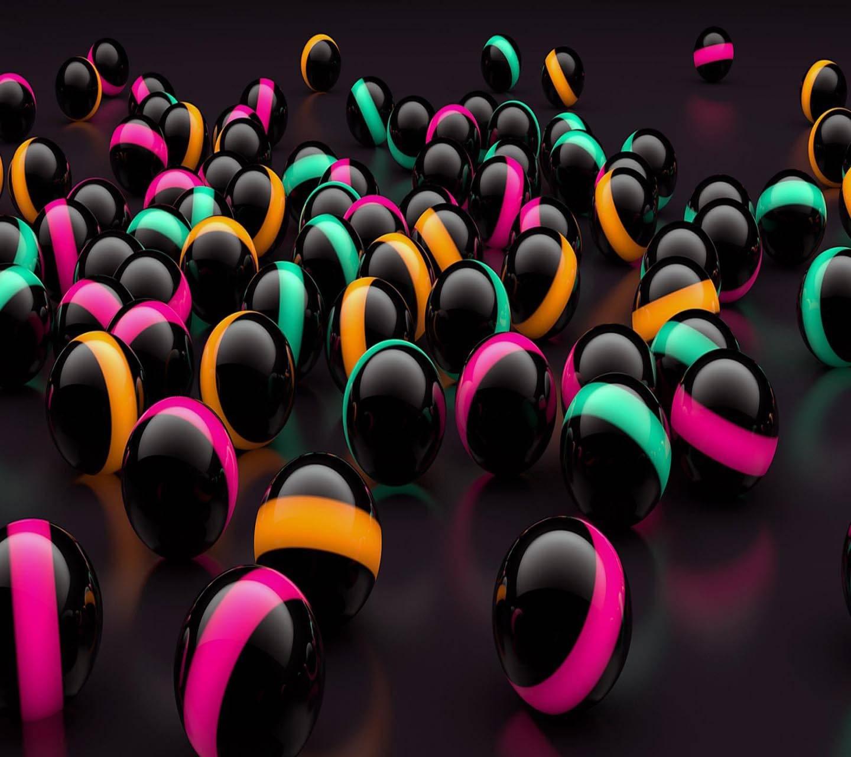 3d Black Balls