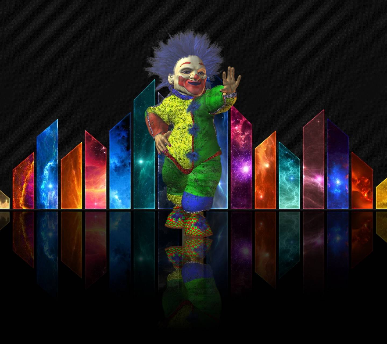 clown on stage