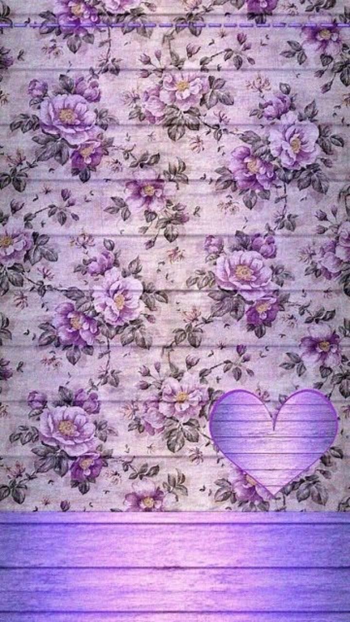 Purple Rose Heart 2