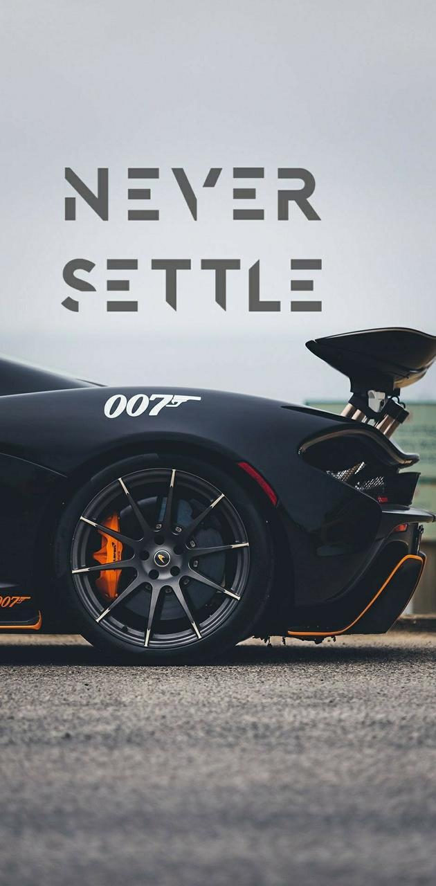 Never settle car