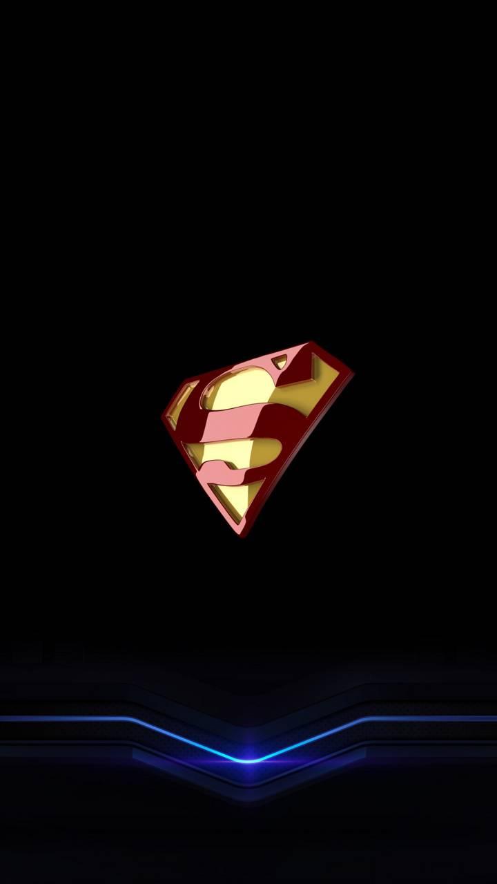 Superman Logo Neon