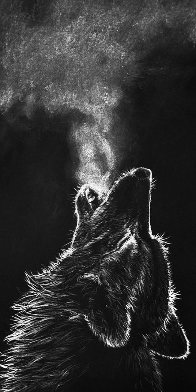 Wolf chalkboard