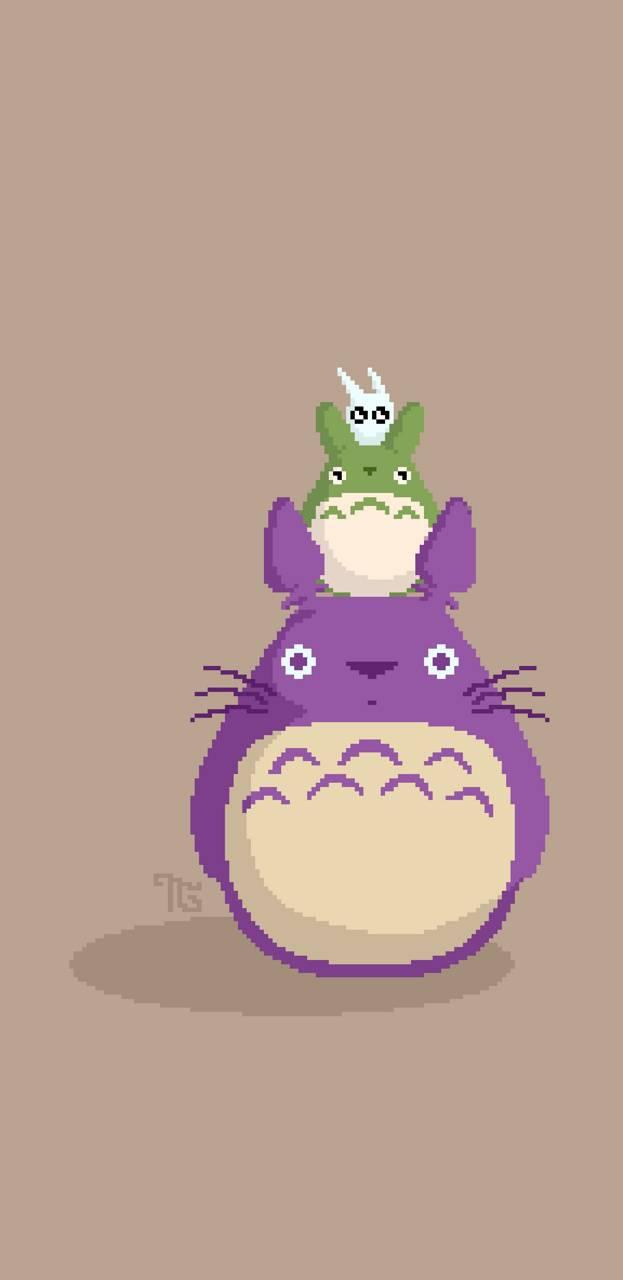 3 Pixel Totoro Biege