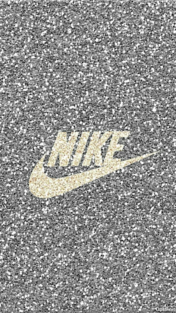 Glittery nike logo