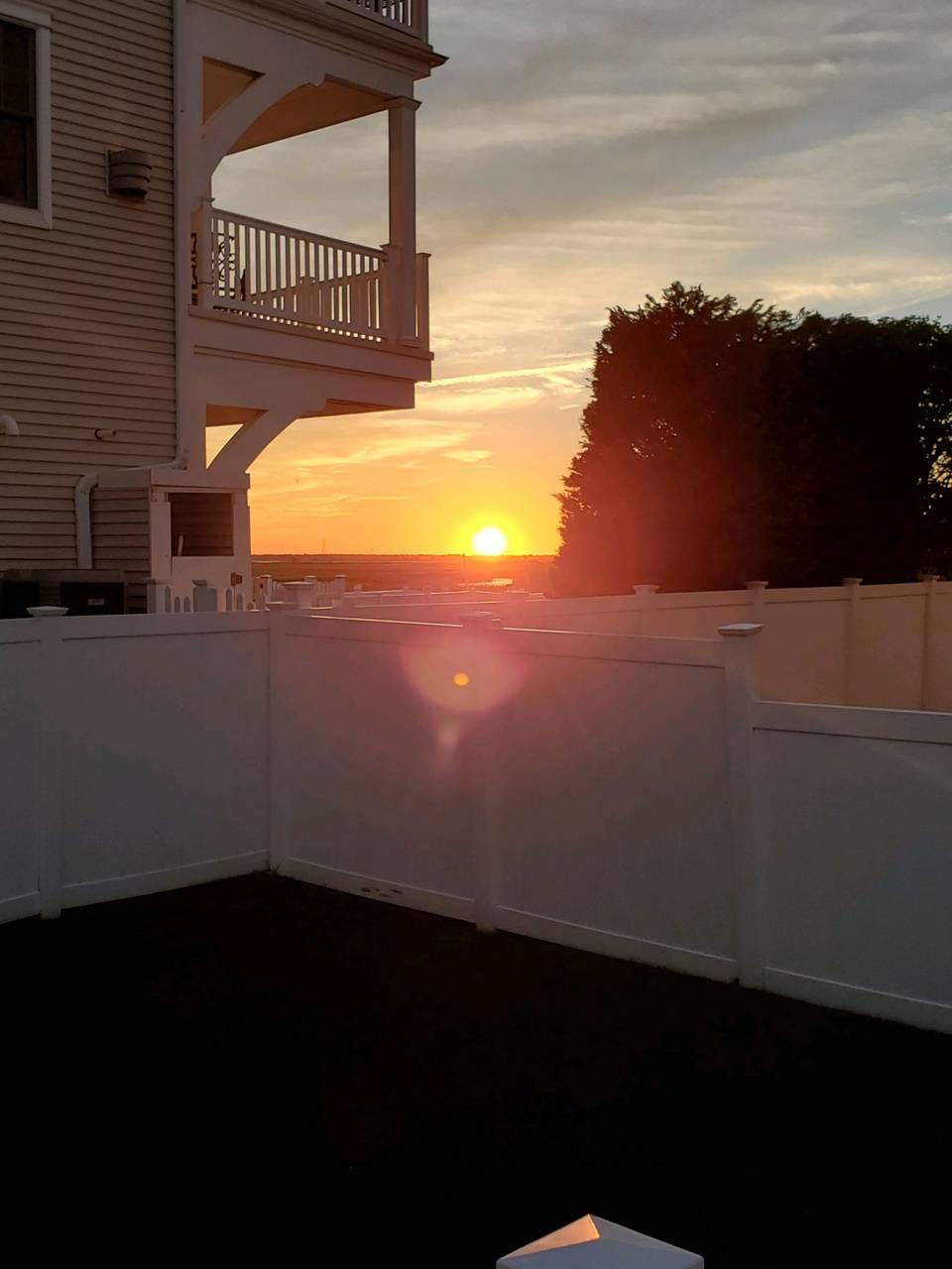 Sun set at shore