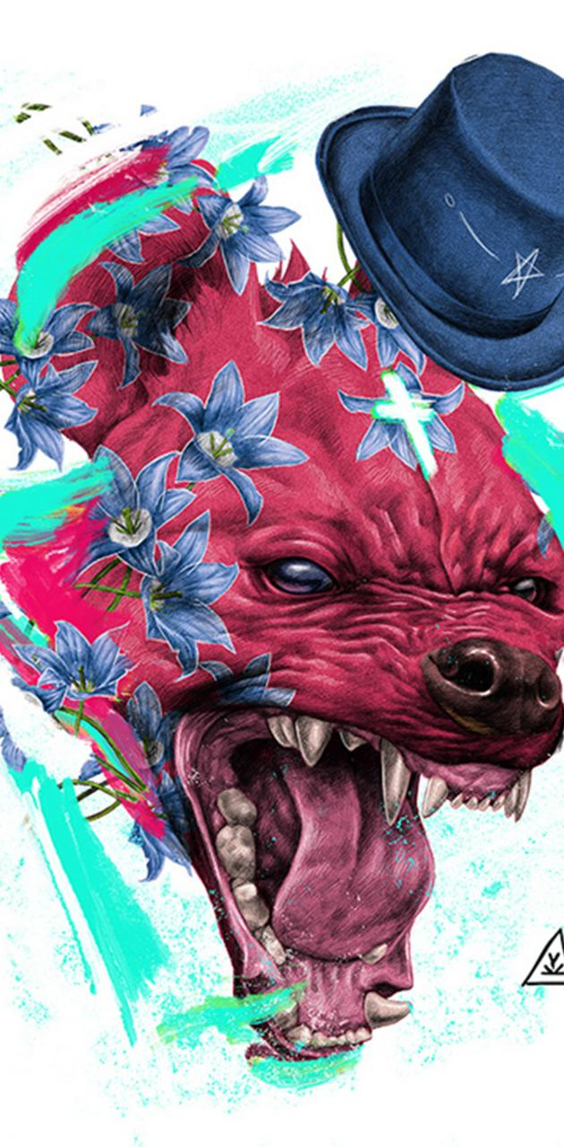 Pitbull abstract