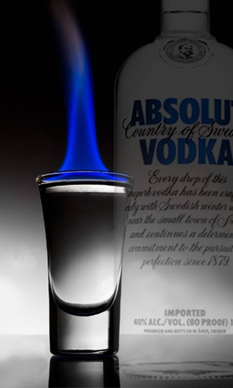Vodka flaming
