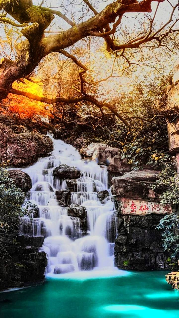 Waterfall Scenery Wallpaper by ShayaanBhutto - 33 - Free on