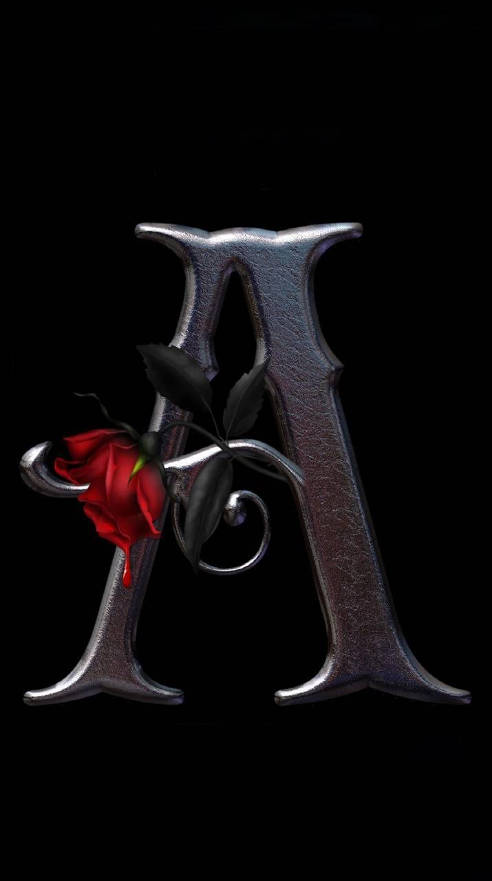 Letter A Rose