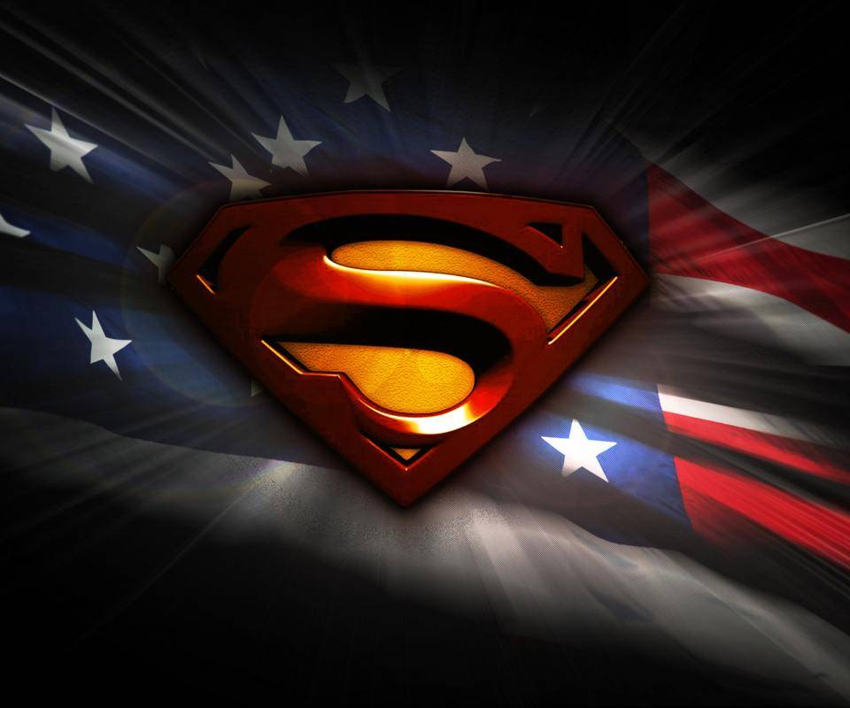 superman with flag