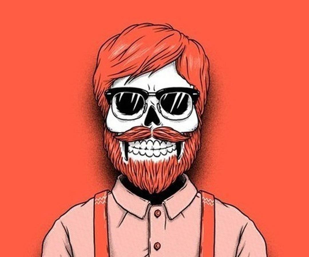Hipster skeleton