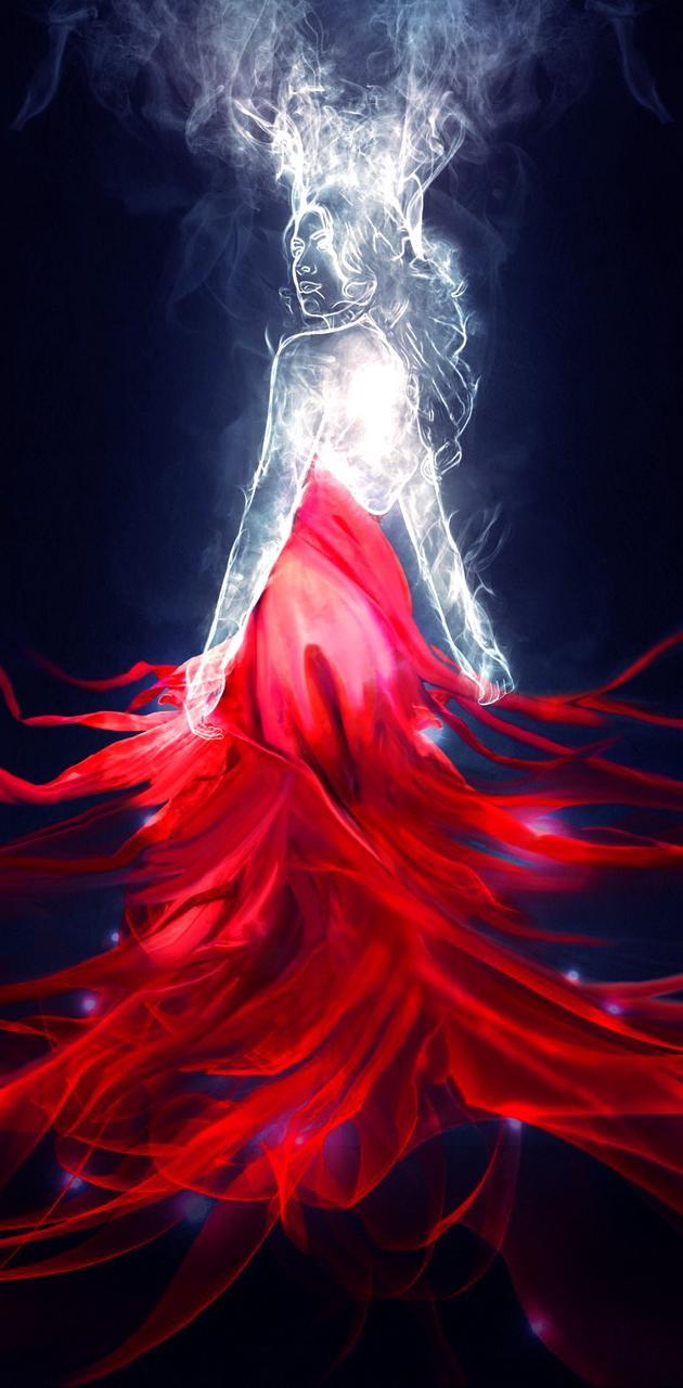 Smoke Red Dress