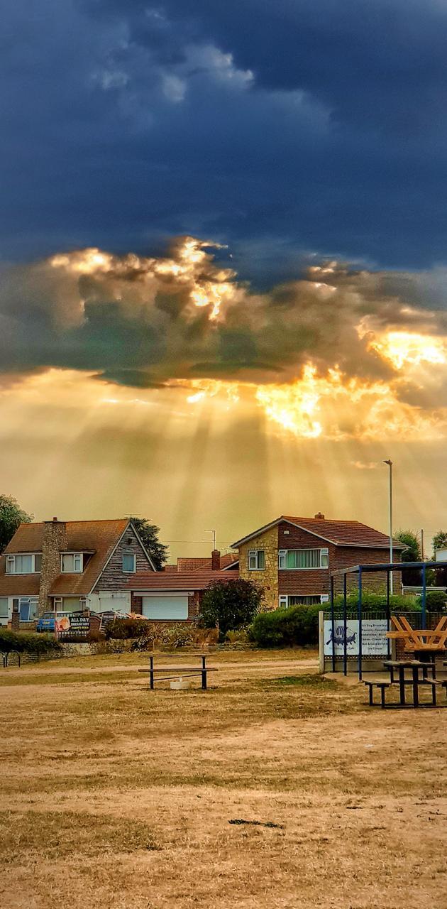 God rays over kent