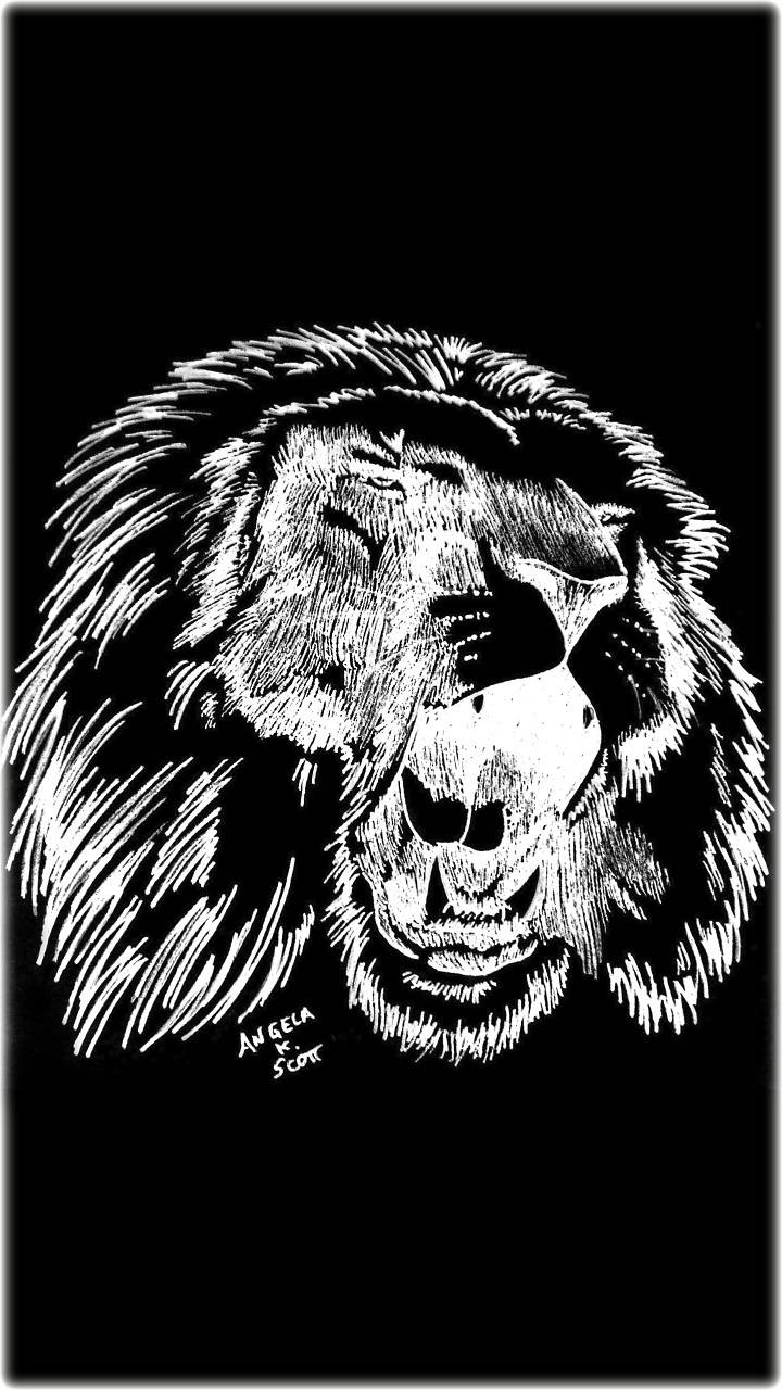 Dark Lion Roar Art Wallpaper By 1artfulangel E0 Free On Zedge