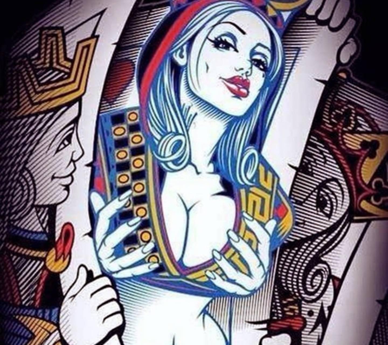 Cartoon sex wallpaper Ebony en grote witte lul