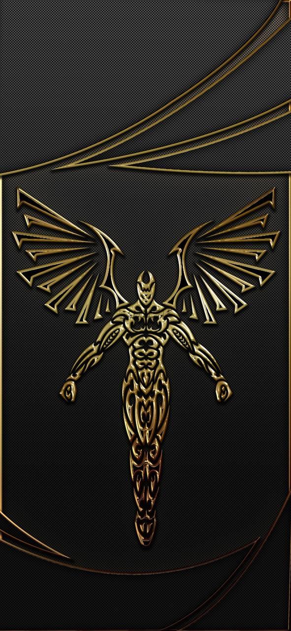 Gold Tribal Angel