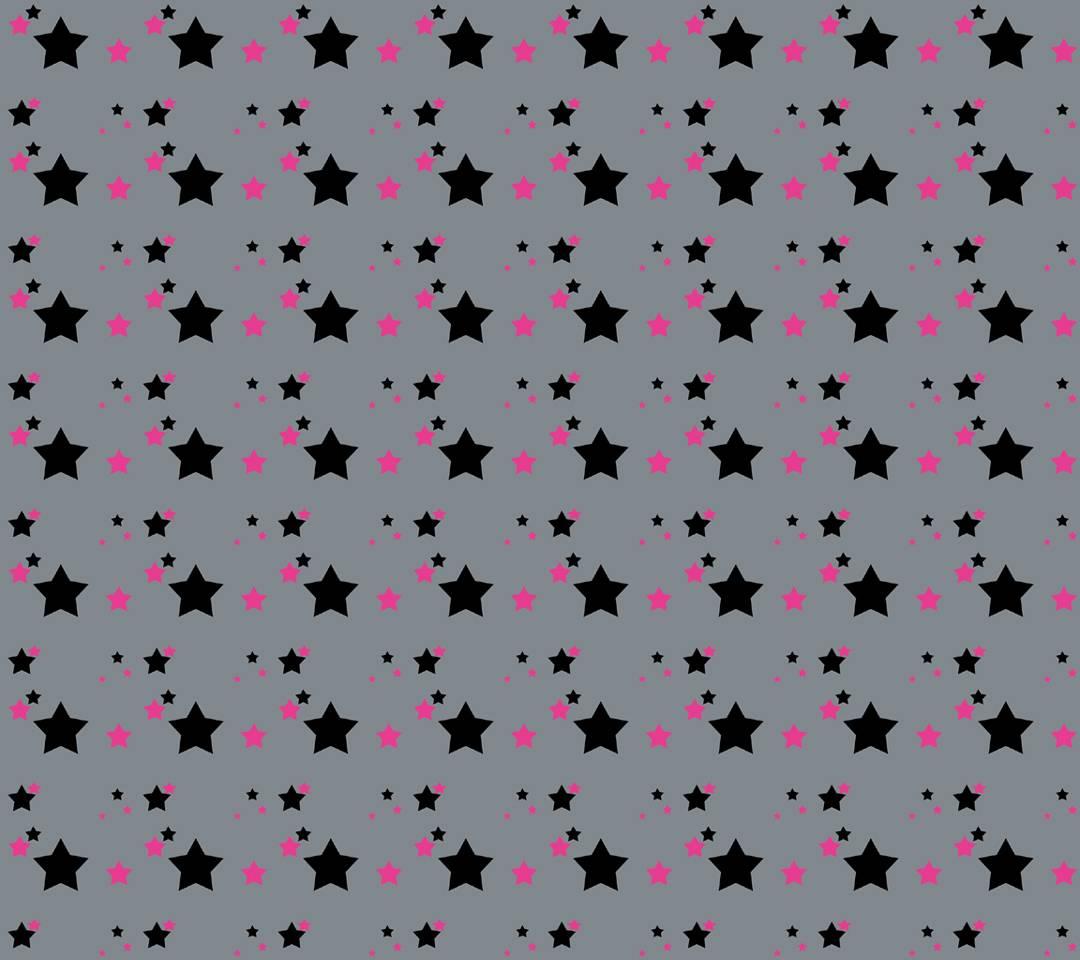 black pink stars