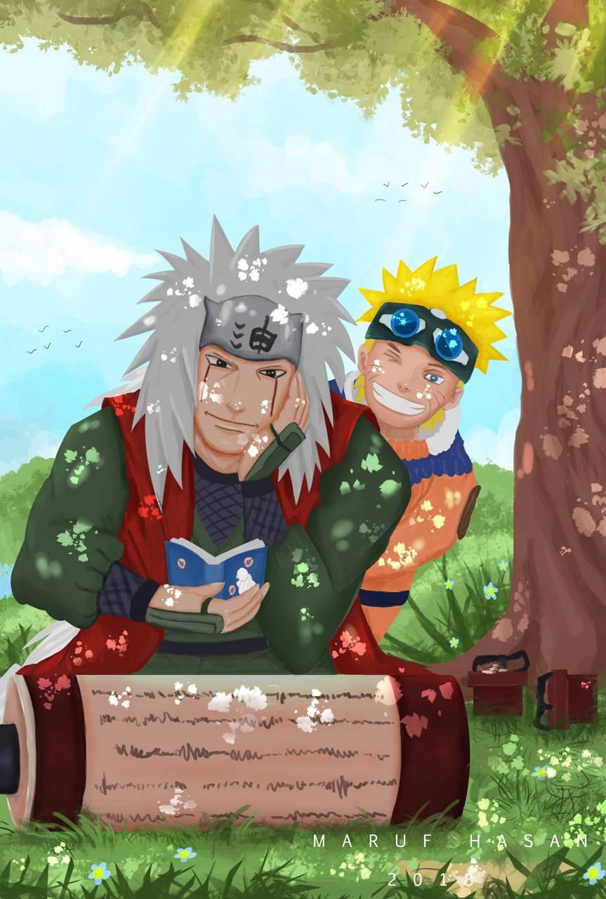 Jiraiya And Naruto Wallpaper By Marufhasaneshan 6a Free