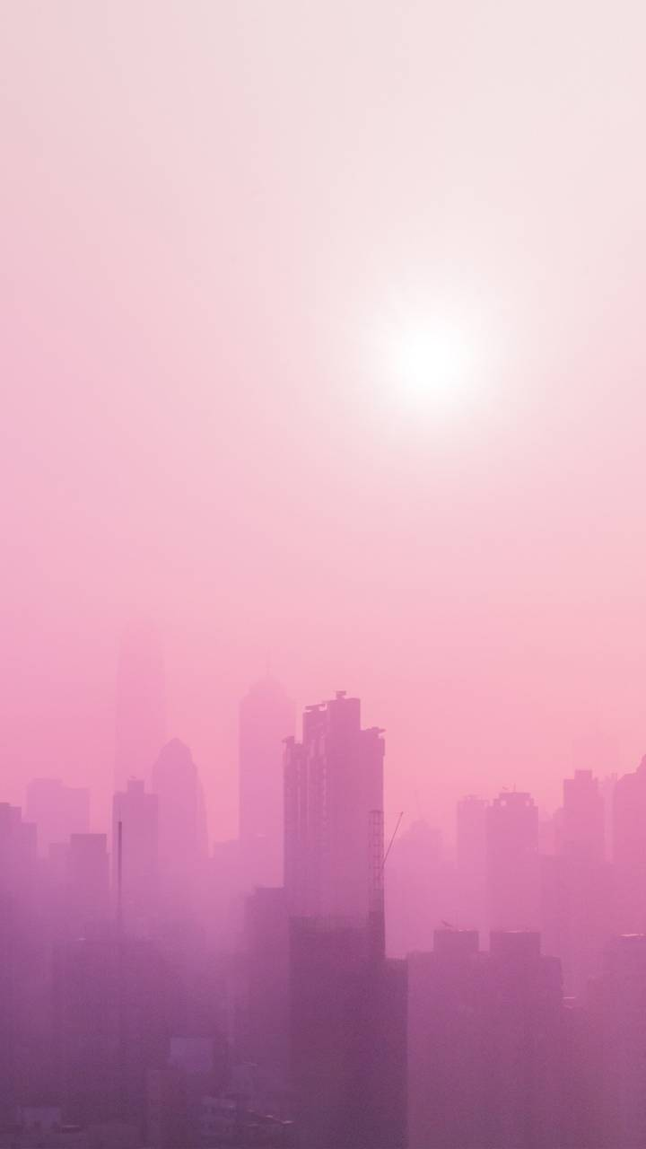 Pink Urban Skyscrap