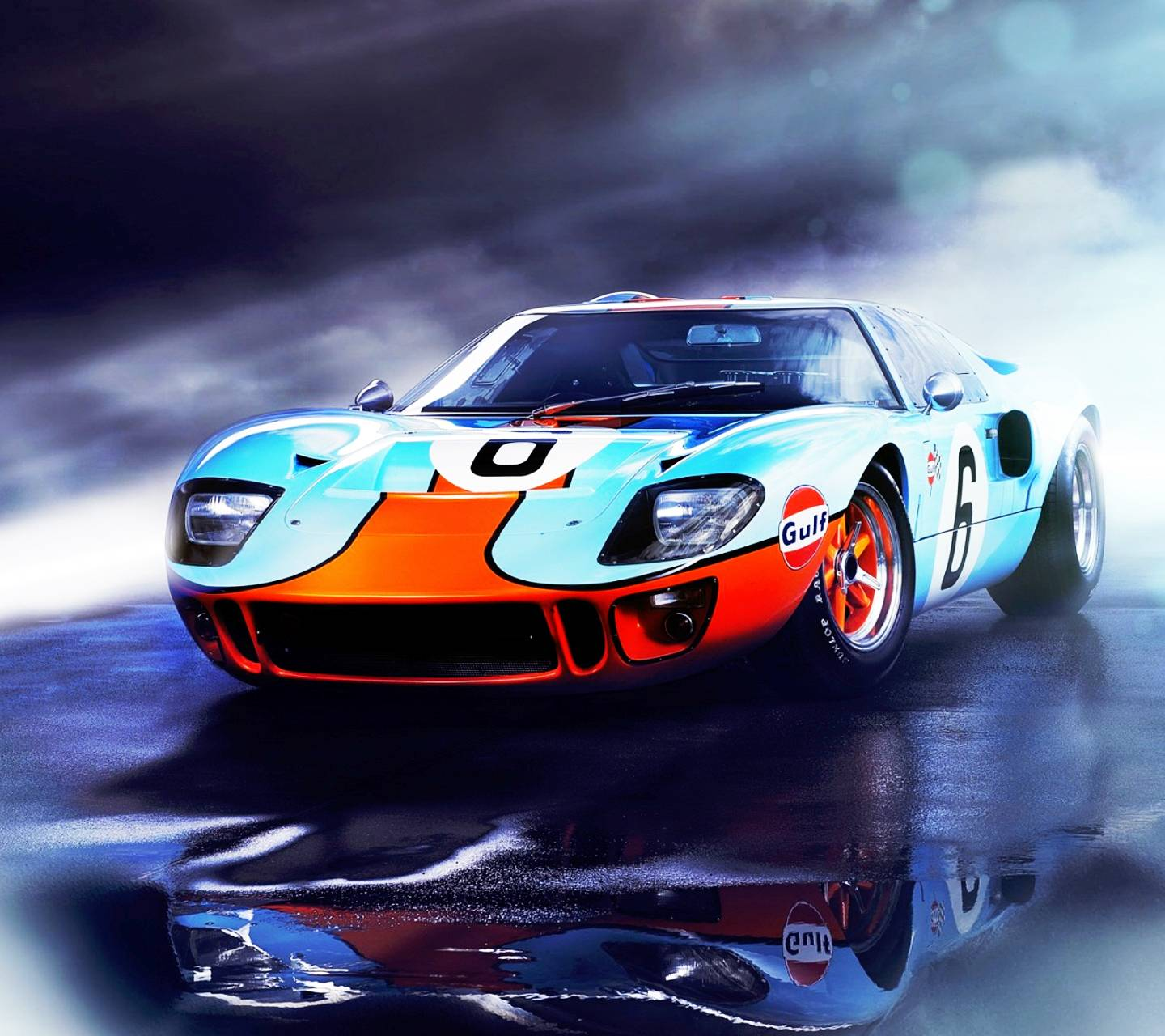 Ford Wallpaper: Ford GT40 Gulf Wallpaper By Stiggerphone
