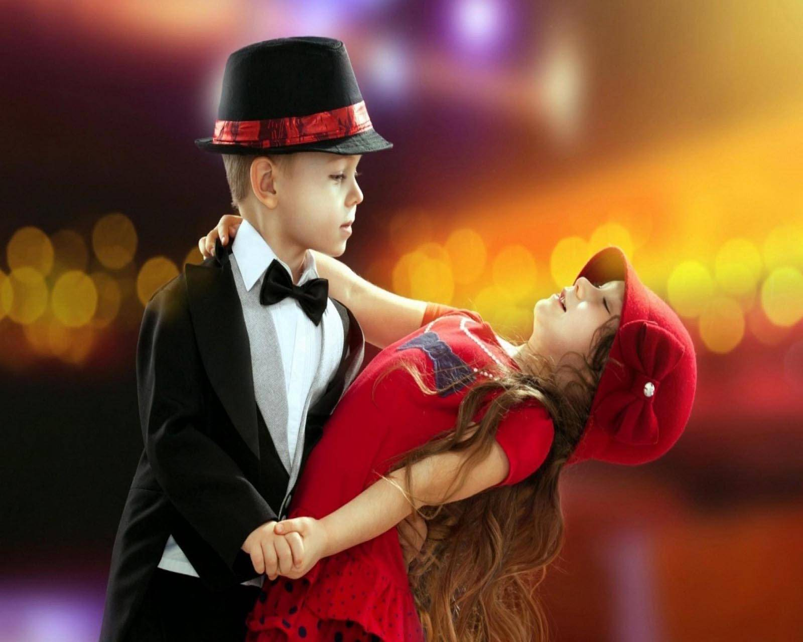 Romantic kids dance